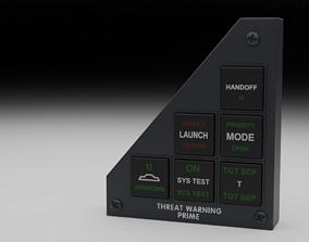 3D F16 Threat Warning Prime Panel