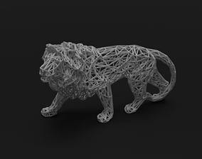 3D print model Low Poly Lion poly