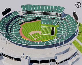 Oakland - Alameda County Coliseum 3D model game-ready