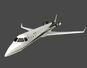 Private JET ERJ 145-XR 3D model