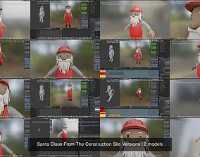 Santa Claus From The Construction Site Versions 3D