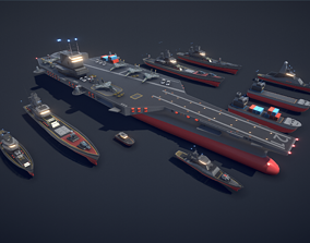 Poly Fleet 3D asset