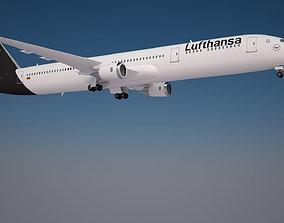 3D model Lufthansa 787-9 Dreamliner