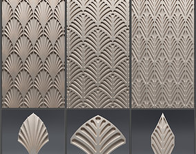 Gypsum 3D panel set 13
