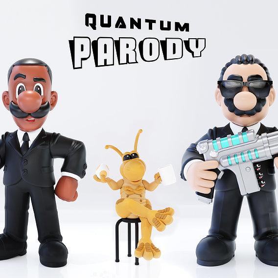 Quantum Parody - Volume I - Digital Collectibles for 3D Print