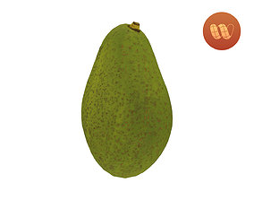 3D model VR / AR ready Avocado - Real-Time Scanned