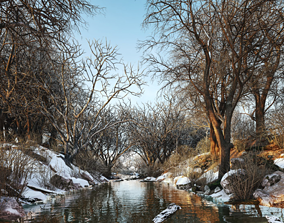 lumion river scene with all settings 3D model