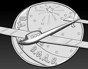 Badge Airplane frame 3D printable model