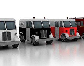 delivery Marmon-Herrington Delivery-Van 1946 3D model