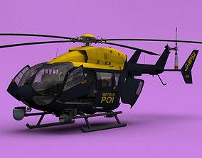 3D model London Metropolitan Police EC-145