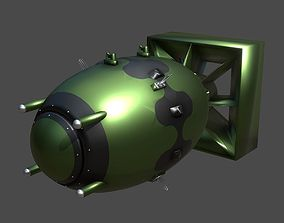 3D asset Fat Man Atomic Bomb MARK III
