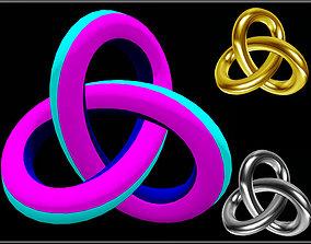 3D asset Knot Object
