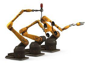 3D model Industrial Robot