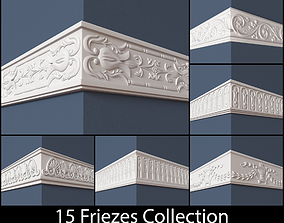 3D model 15 Friezes Collection