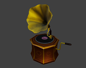 Gramophone 3D asset VR / AR ready interior