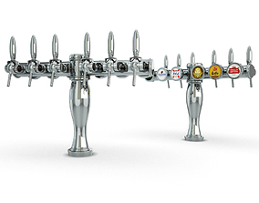 Collection 6 Beer taps Elysee 3D model