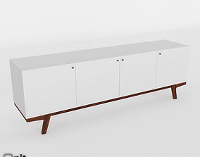 drawers Modern Media Consolle 80 by West Elm 3D