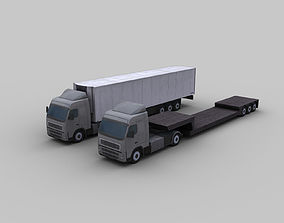Truck with Trailer 1 3D model