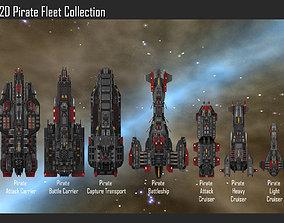 2D Pirate Fleet Collection 3D model