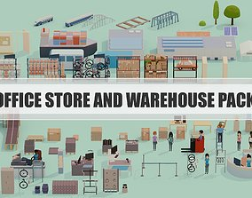 3D model Office Store and Warehouse Pack