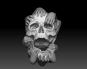 bas Skull and Hands 3d model cnc