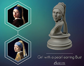 Girl with a Pearl Earring 3D Portrait Sculpture