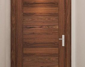 wooden door 3D chrome