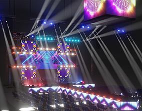 3D Arena concert animated scene EEVEE render