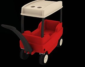 3D asset Covered Wagon- Toys FP