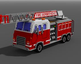 Fire Truck 3D asset realtime