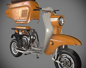 3D asset Moped Vyatka Elektron USSR 1974 GAME-READY