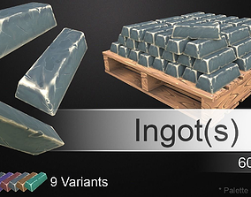 Hand-Painted Ingots 3D model