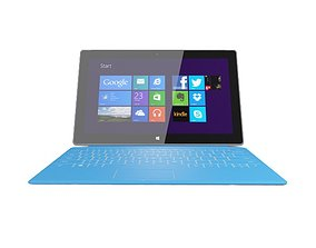 Microsoft Surface Pro with Touch Cover 3D model