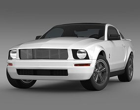 3D model Ford Mustang WIP 2009