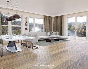 livingroom living Interior 3D model