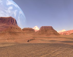 PBR Desert Landscape Low-poly 3D model and low-poly 1