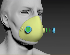 3D printable model protective Face Mask