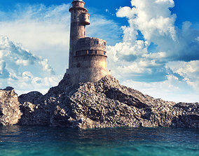 Old LightHouse V-ray scene 3D model