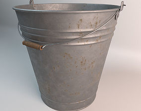 Old steel bucket 3D model