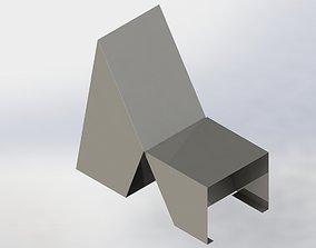 3D printable model Contemporary metal armchair