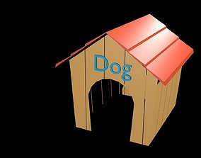 3D asset Low poly doghouse