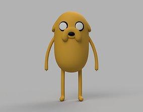 Jake The Dog Adventure Time Fanart Figure 3D print model