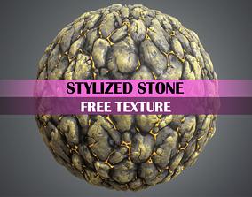 Stylized Rock Texture 3D asset