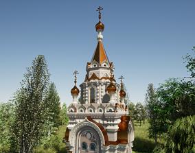 Russian Orthodox Chapel construction 3D model
