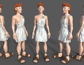 Young Hercules Disney LowPoly Rigged 3D asset