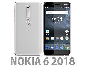Nokia 6 2018 White 3D model