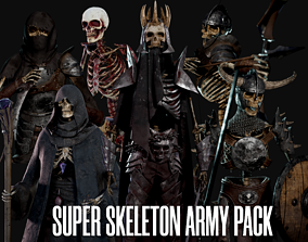 Super Skeleton Army Pack 3D