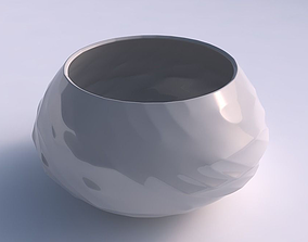 Bowl squeezed twisted with fibers 3D print model