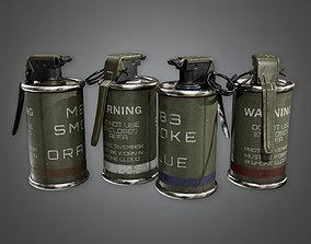 3D asset MLT - Military Smoke Grenade - PBR Game Ready