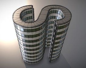 3D model PBR City Building Design S-1-7